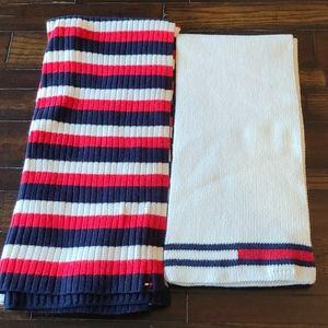 Tommy Hilfiger bundle of 2 knit scarves